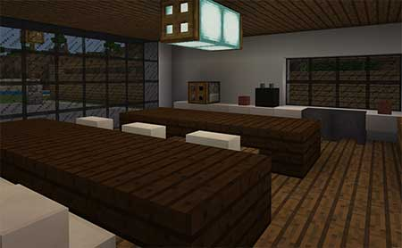 Woodlux Modern House mcpe 3