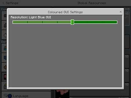 Coloured GUI mcpe 1