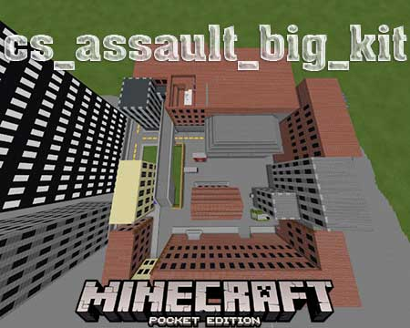 Карта cs_assault_big_kit для Minecraft PE