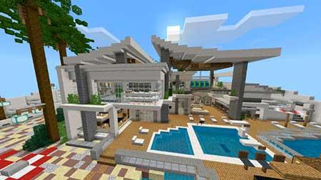 Modern Redstone Mansion mcpe 1