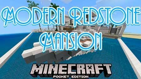 Карта Modern Redstone Mansion для Minecraft PE