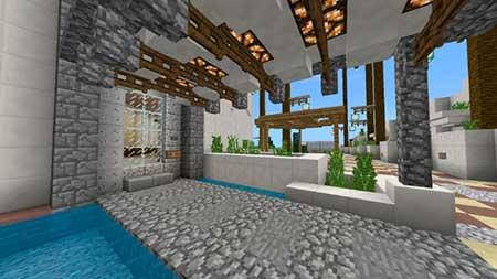 Modern Redstone Mansion mcpe 3