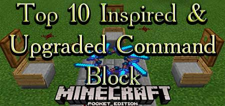 Карта Top 10 Inspired & Upgraded Command Block для Minecraft PE