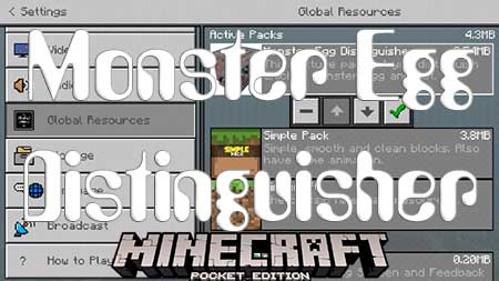 Текстуры Monster Egg Distinguisher для Minecraft PE
