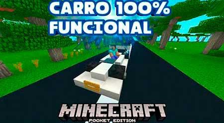 Карта 100% Functional CAR для Minecraft PE