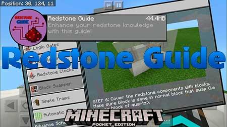 Мод Redstone Guide для Minecraft PE