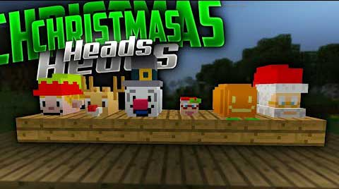 Мод Christmas Heads Costumes для Minecraft PE