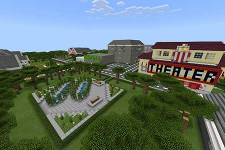 Карта School and Town для Minecraft PE