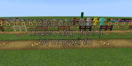 Карта Resource Pack Review для Minecraft PE