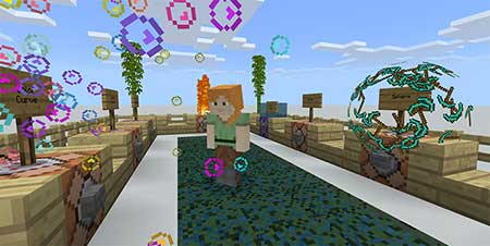 Карта New Particles Showcase World для Minecraft PE