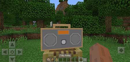 Мод Working Boombox для Minecraft PE
