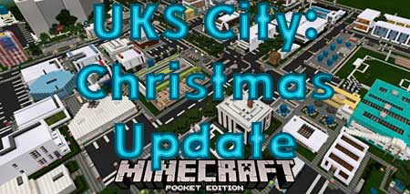 Карта UKS City: Christmas Update для Minecraft PE
