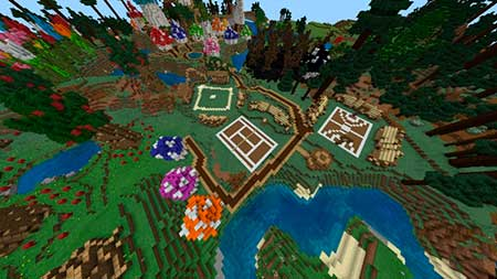 The Smurfs' Village mcpe 1