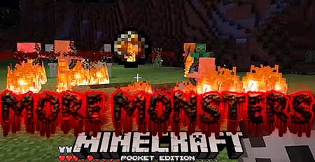 Мод More Monsters для Minecraft PE