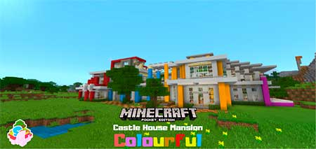 Карта SG Castle House Mansion – Colourful для Minecraft PE