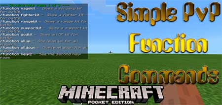 Мод Simple PvP Function Commands для Minecraft PE