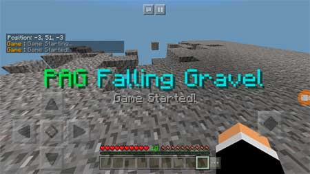 PAG Disappearing Gravel mcpe 2