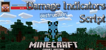 Мод Damage Indicators Script для Minecraft PE