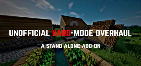 Мод Unofficial Hard-Mode Patch для Minecraft PE