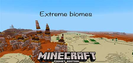 Сид Extreme Color and Biomes для Minecraft PE
