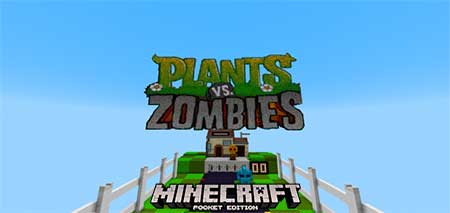 Карта Plants Vs Zombies MiniGame для Minecraft PE