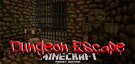 Карта Dungeon Escape для Minecraft PE