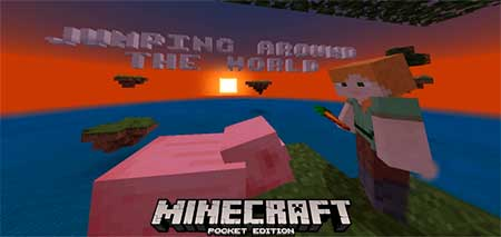Карта Jumping Around The World для Minecraft PE