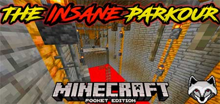 Карта The Insane Parkour для Minecraft PE