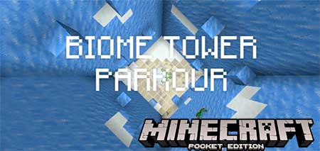 Карта Biome Tower Parkour! для Minecraft PE