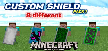 Мод Custom Shield Pack 1 для Minecraft PE