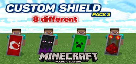 Мод Custom Shield Pack 2 для Minecraft PE