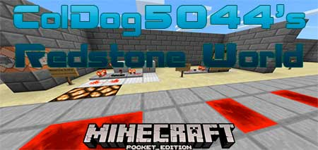 Карта ColDog5044's Redstone World для Minecraft PE