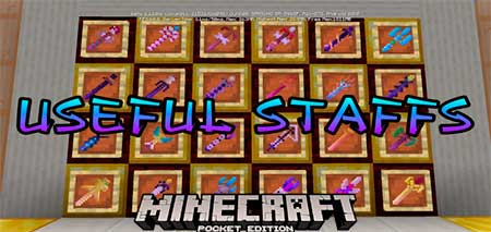Мод Useful Staffs для Minecraft PE