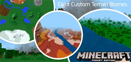 Карта Eight Custom Terrain Biomes для Minecraft PE