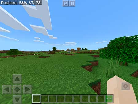 Spawn Near Village, Stronghold & Mineshaft mcpe 3