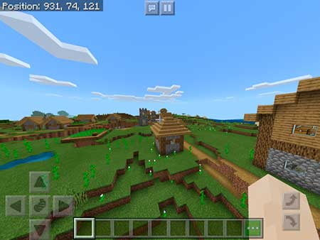 Spawn Near Village, Stronghold & Mineshaft mcpe 4