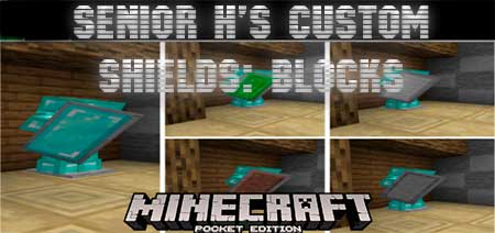 Текстуры SENIOR H's Custom Shields: Blocks для Minecraft PE