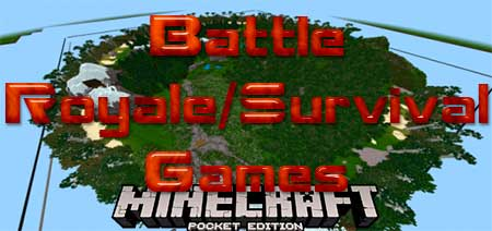 Карта Battle Royale/Survival Games для Minecraft PE