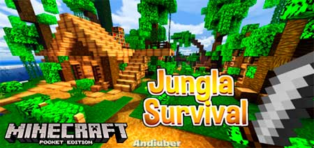 Карта Jungle Survival для Minecraft PE
